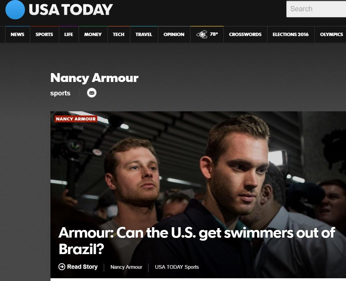 'Para colunista do 'USA Today', constrangimento fez Brasil exagerar em caso de nadadores americanos