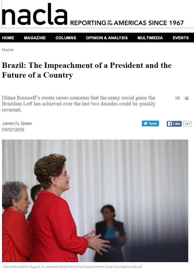 James Green: Impeachment é 1º passo de programa para desfazer conquistas da esquerda