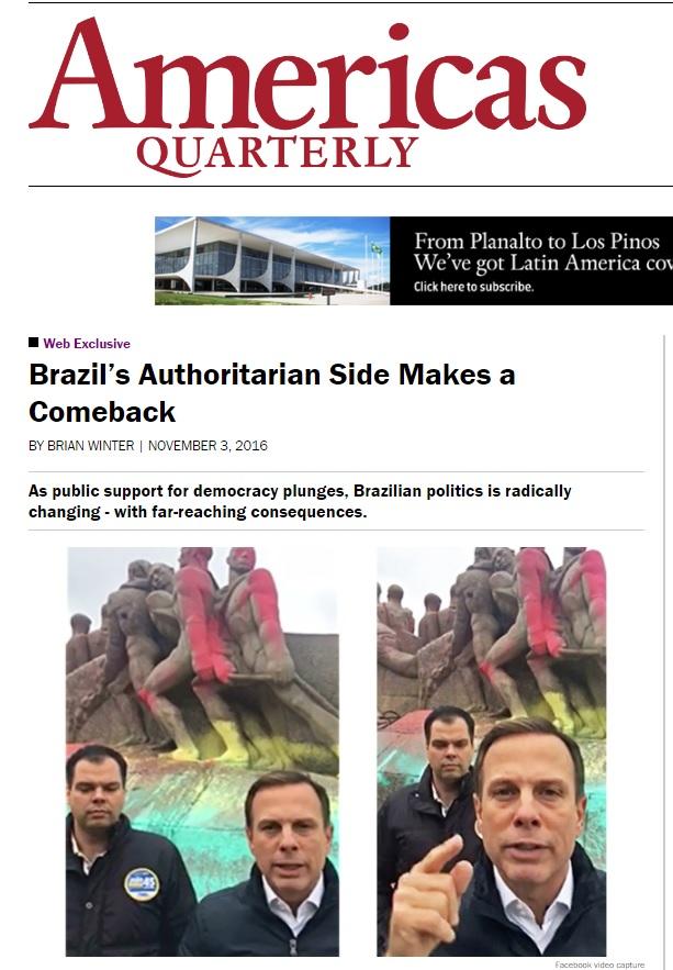 Eleição confirma guinada conservadora no Brasil e ecoa ditadura, diz revista