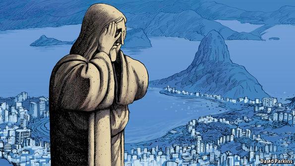 Ilustração da revista 'The Economist' sobre crise no Brasil