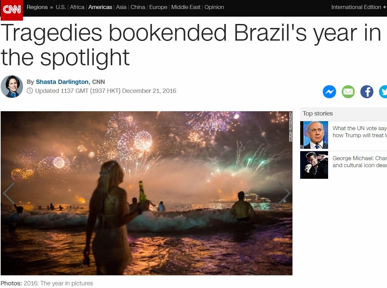 Tragédias marcam ano do Brasil sob holofotes, diz retrospectiva da CNN