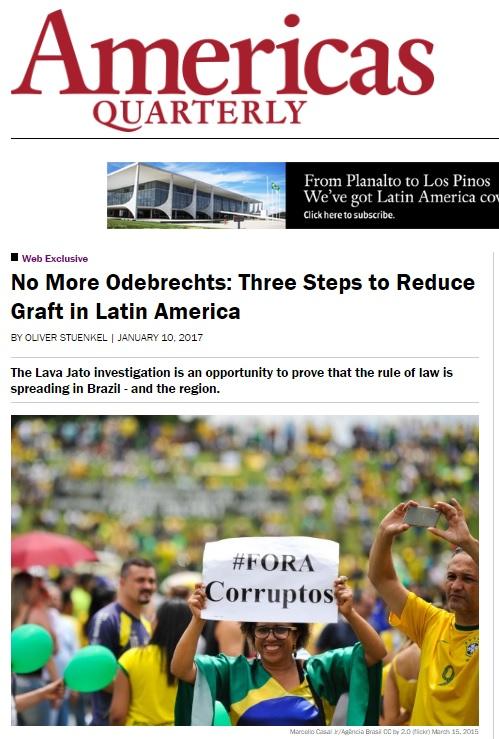 Corrupção da Odebrecht é um desastre para a reputação do Brasil, diz pesquisador