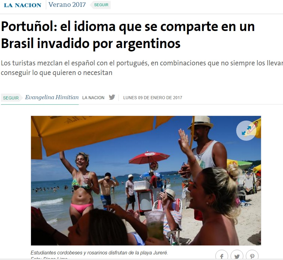 Portunhol gera mal-entendidos para argentinos no verão brasileiro, diz 'La Nación'