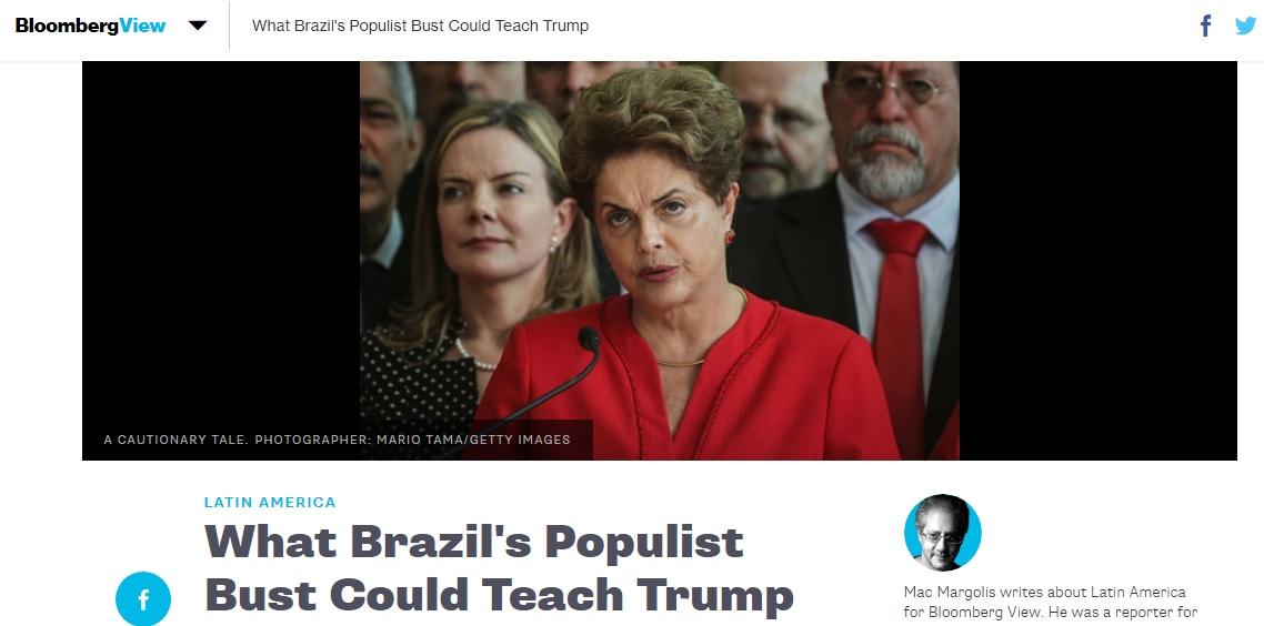 'Forbes' e Bloomberg apontam semelhanças entre governos de Trump e de Dilma