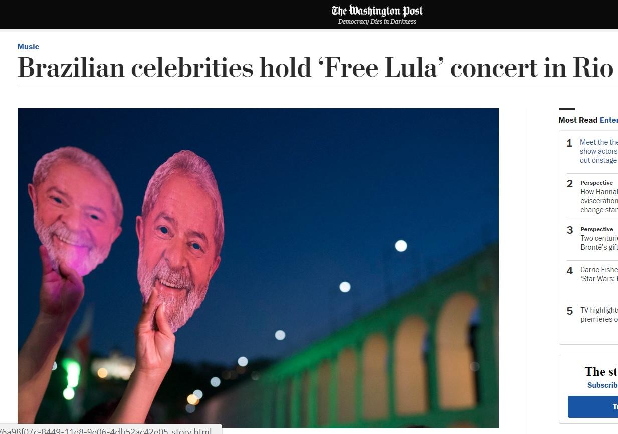 Resultado de imagem para imprensa a favor de lula no exterior