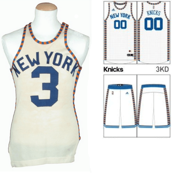 new york knicks uniform