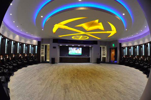 nuggets locker room