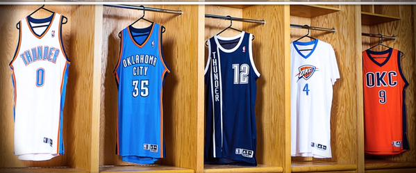 thunder uniforms