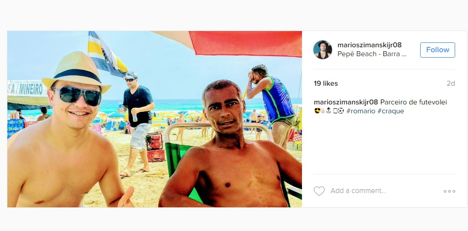 Imagens de Romário bem mais magro assustaram fãs. Imagem: Instagram/Reprodução