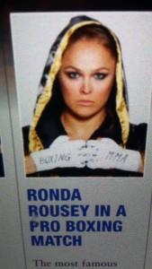 Foto em artigo que, agora, diz que Ronda não irá estrear no boxe profissional