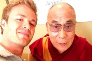Rosberg e o líder espiritual Dalai Lama