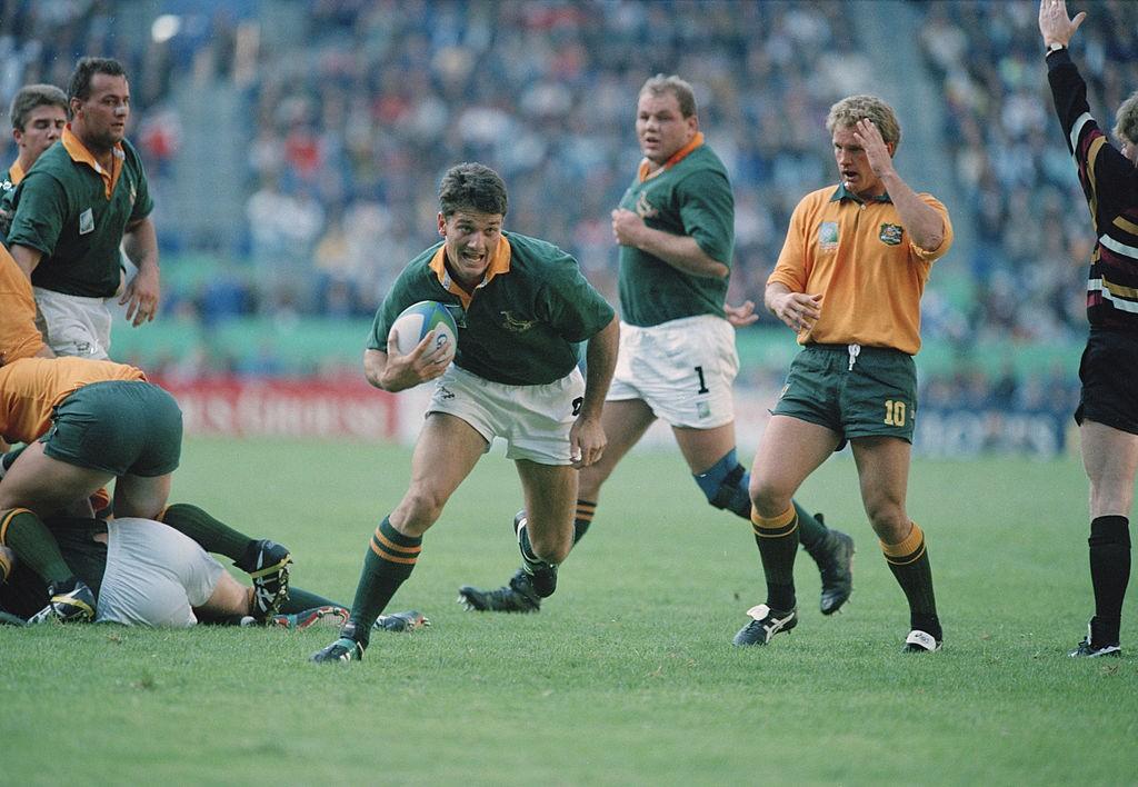 Joost van der Westhuizen em ação pela seleção sul-africana, em 1995 (Mike Hewitt/Getty Images)
