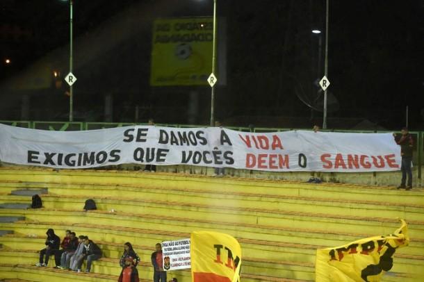 Protesto torcida Flamengo