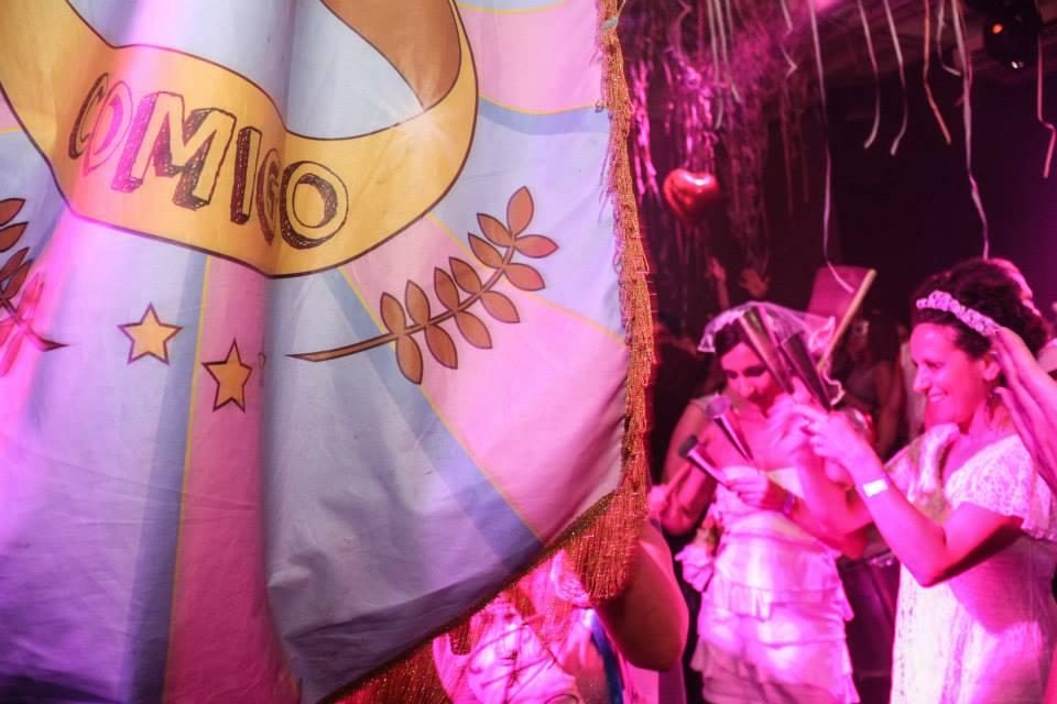 Noivas invadem a Via Matarazzo no Baile de Máscaras do Casa Comigo. Foto: reprodução