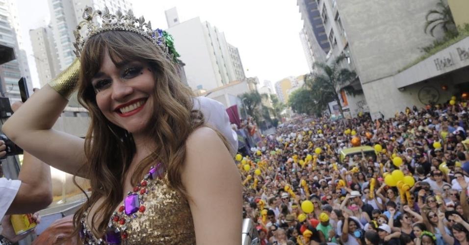 Alessandra Negrini: rainha de bateria do Baixo Augusta desde 2013. Foto: Nelson Antoine/Folhapress