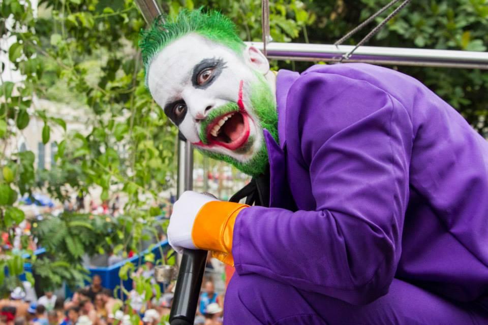 Celso Chagas: no trabalho, é jornalista, no Carnaval é o Coringa. Foto: PH Noronha/Divulgação