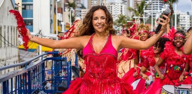 Daniela Mercury comanda a festa na Avenida Faria Lima, no domingo (24). Foto: Divulgação