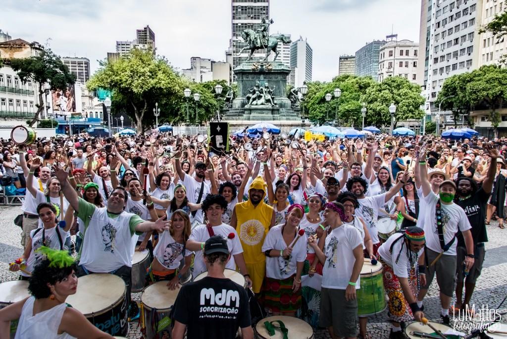 Estratégia: música preta brasileira no repertório e 60 ritmistas. Foto: Lu Mattos/Divulgação