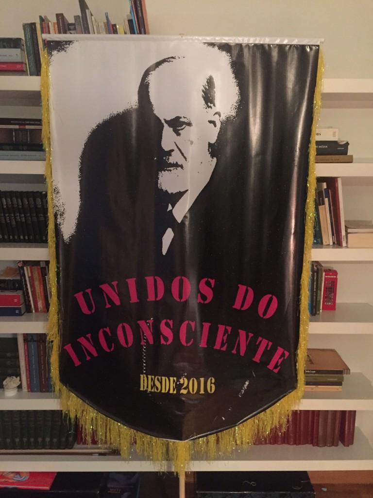 Do consultório para o Carnaval: Freud virou estandarte de bloco. Foto: Divulgação