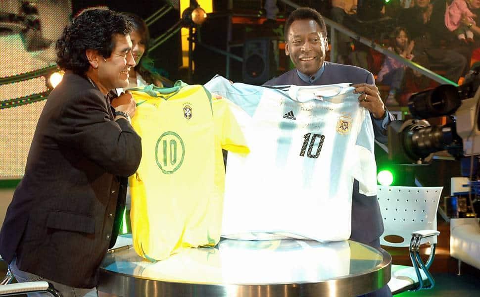 Maradona quis a camisa 10 porque amava Pelé  63e0a5f97de08