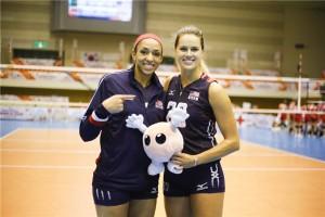 Alisha Galss e Kelsey Robinson podem reeditar, nos Rio 2016, uma parceira que deu certo na Itália (foto: FIVB)