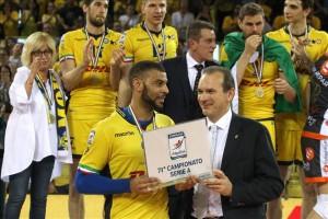 Ngapeth foi o MVP das finais da Liga Italiana (foto: Lega Volley)