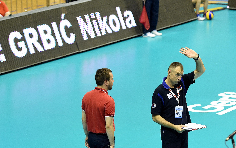 Serbia coach Nikola Grbic