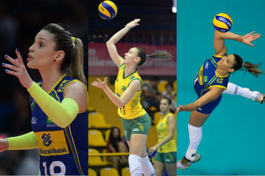 Camila, Roberta e Tandara não disputarão a Olimpíada do Rio (Fotos: Divulgação/FIVB)