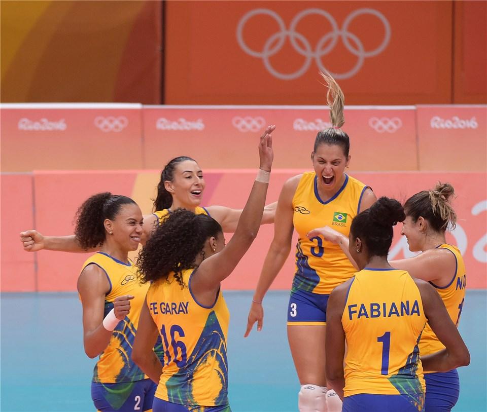 Exceção feita ao fim do terceiro set, Brasil fez sua melhor apresentação na Rio 2016 (Fotos: FIVB)