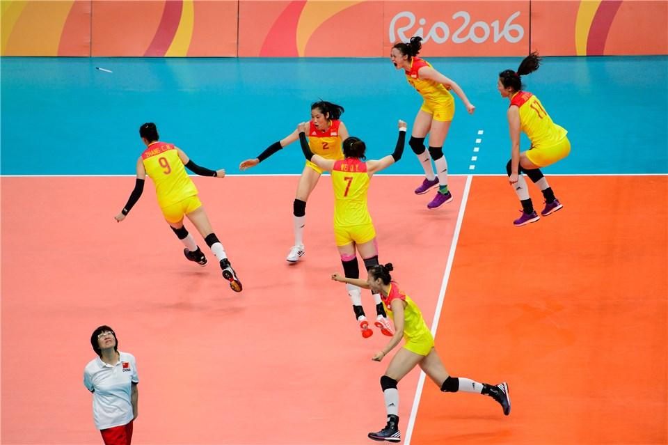 No Rio, a China foi de uma campanha ruim na primeira fase ao tricampeonato olímpico (foto: FIVB)