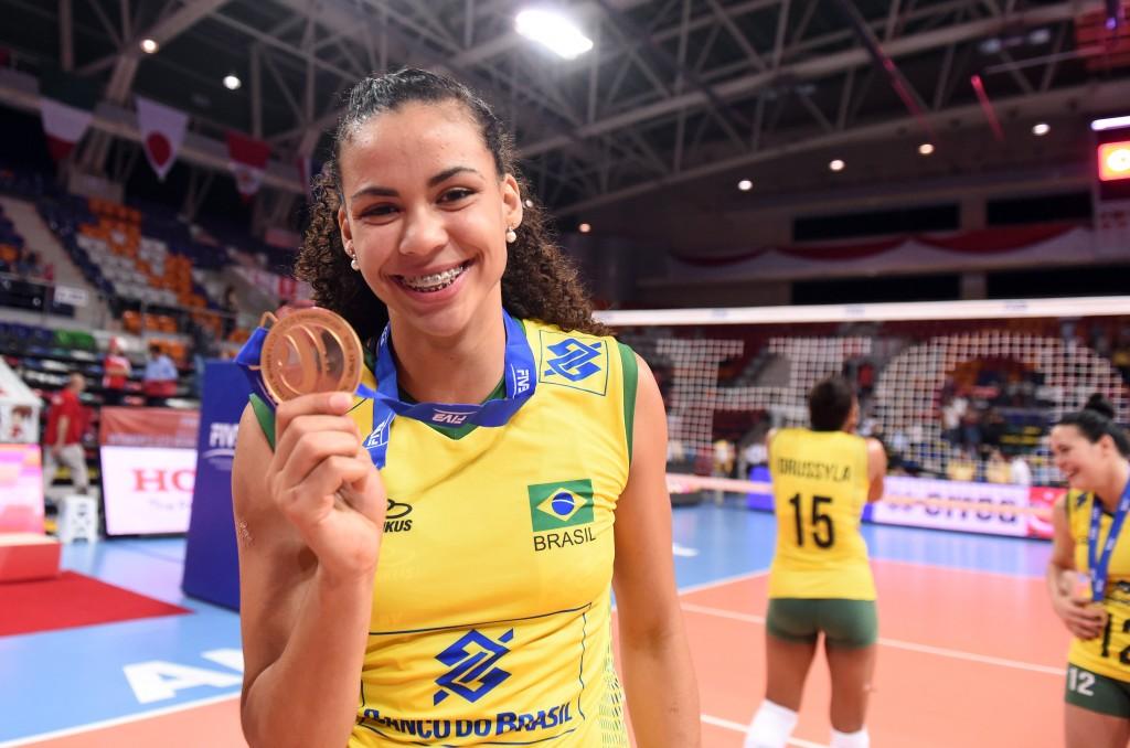 Saraelen marcou 16 pontos na final do Mundial sub-23, vencida pelo Brasil (Foto: Divulgação/FIVB)
