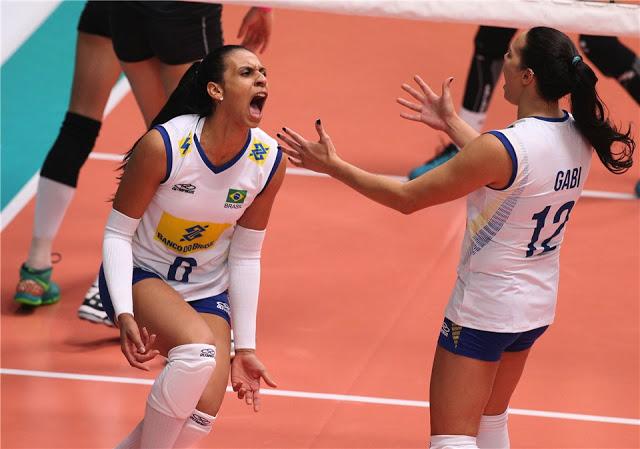 Paula foi destaque individual na má campanha do Brasil no Montreux Volley Masters (Foto: Divulgação)