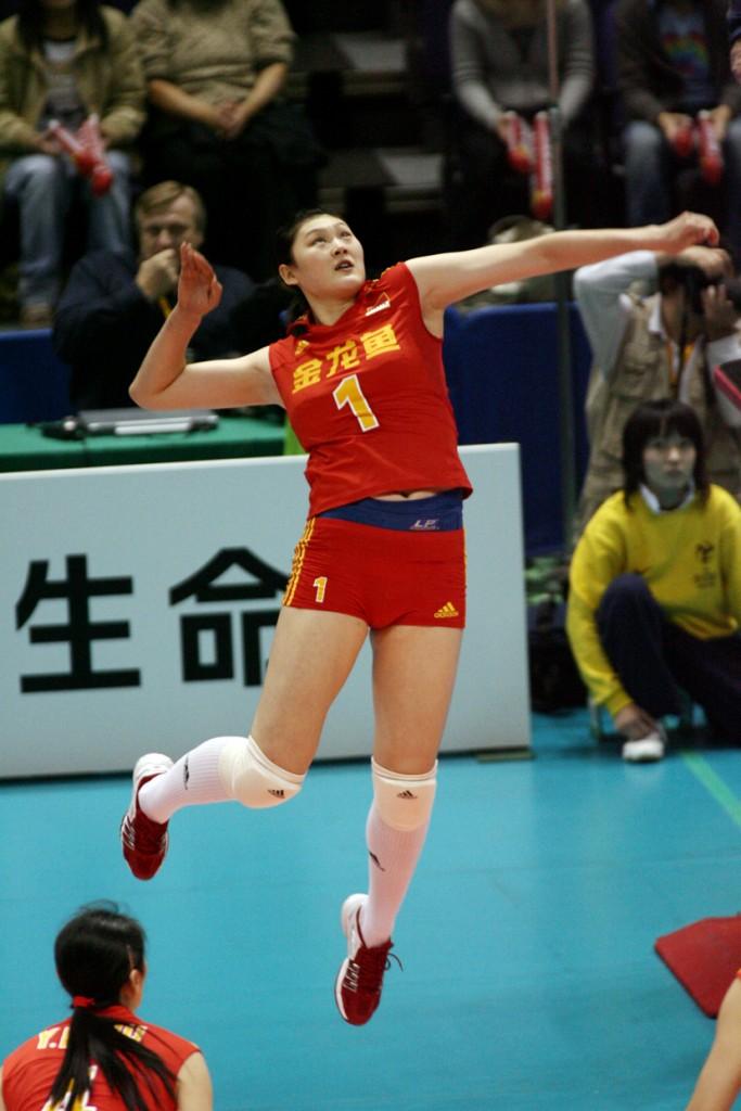 Yimei Wang em ação no Mundial de 2006