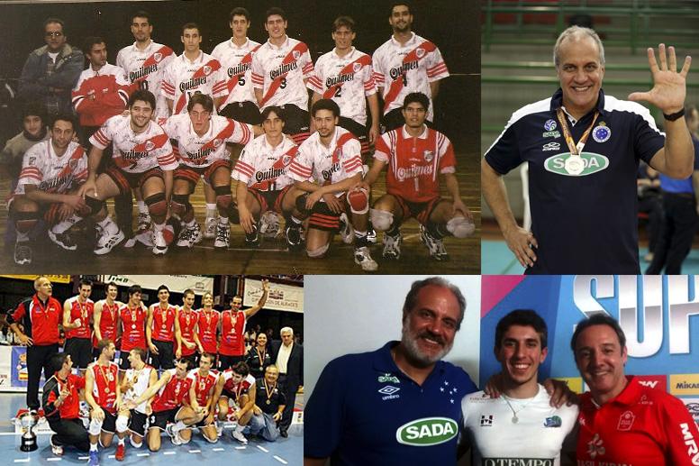Marcelo Mendez começou a carreira de treinador no River Plate (Foto: Montagem Somos Voley)