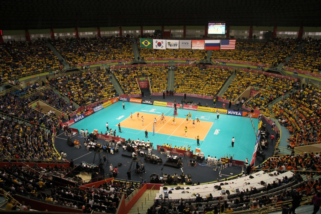 Um dos grandes palcos do vôlei brasileiro, o Ibirapuera completa 60 anos (foto: FIVB)