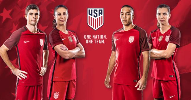 Nova camisa dos EUA é igual ao uniforme de Inglaterra 55627a1aff4a9