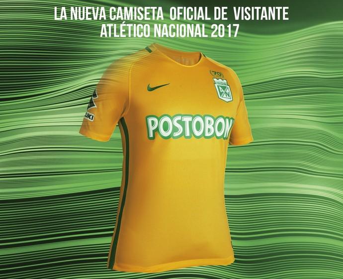 Atlético Nacional lança camisa verde e amarela (mas sem referência ... f63158fcdf396