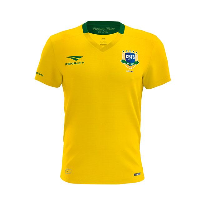 979293da6b Seleção de futsal ganha novas camisas com homenagem a títulos ...