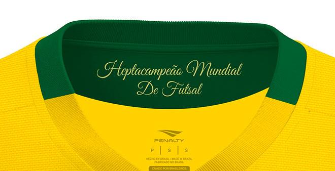 627f5e1cd1cdb Seleção de futsal ganha novas camisas com homenagem a títulos ...