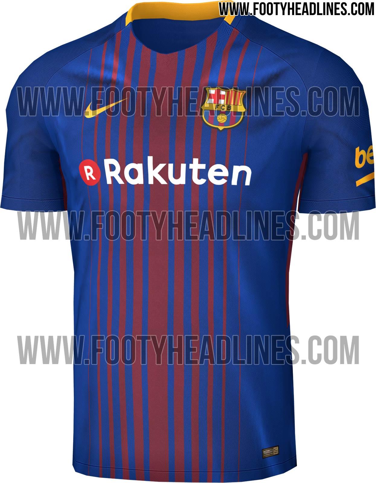 O site especializado em camisas de futebol Footy Headlines publicou nesta  quinta (23) como deve ficar a camisa do Barcelona para a próxima temporada  do ... ed0bca9378484