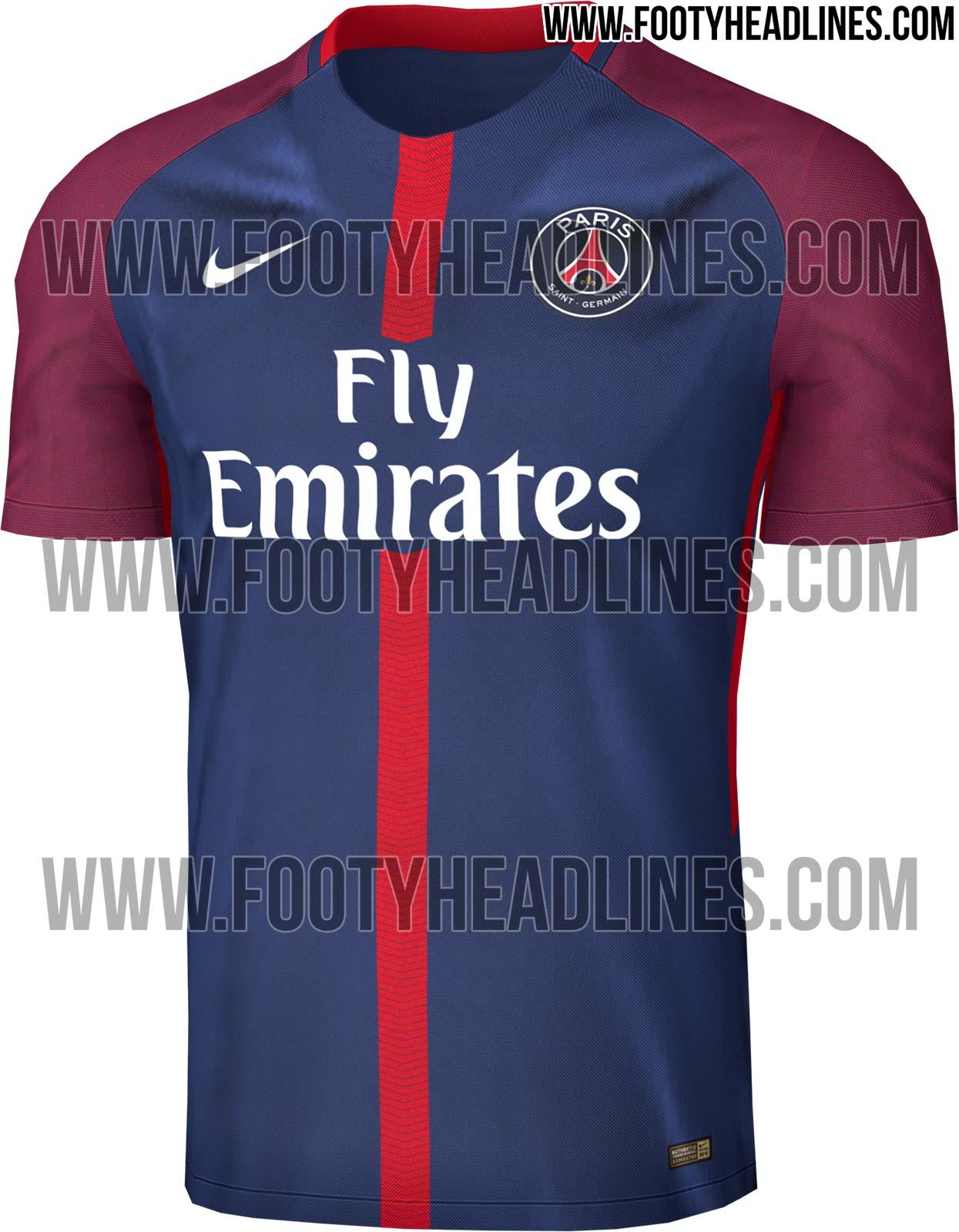 82ce2d70a0828 O site especializado em camisas de time de futebol de todo o mundo Footy  Headlines publicou nesta sexta (24) a imagem do que pode ser a nova camisa  do PSG ...