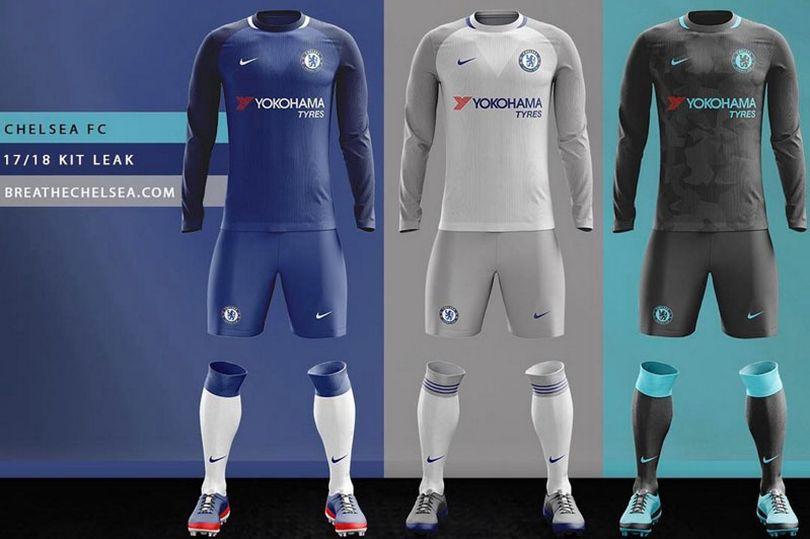 2c9d5722a6 Vazam imagens dos novos kits de jogo do Chelsea com patrocínio da Nike