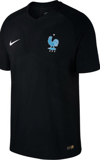 393e431fc0 A Nike apresentou nesta quarta-feira o terceiro uniforme da seleção francesa.  Ele é todo preto com o símbolo em azul.