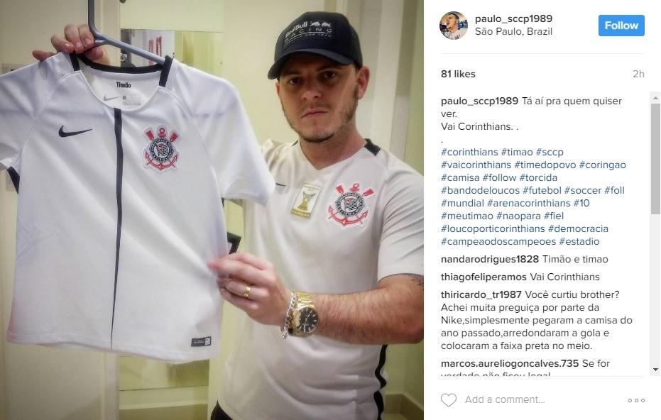 5476925877 A nova camisa do Corinthians para a atual temporada será lançada neste mês  de abril. Antes da divulgação oficial