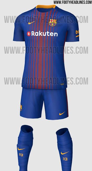 Vaza uniforme completo do Barcelona para próxima temporada - UOL Esporte 313b9909658
