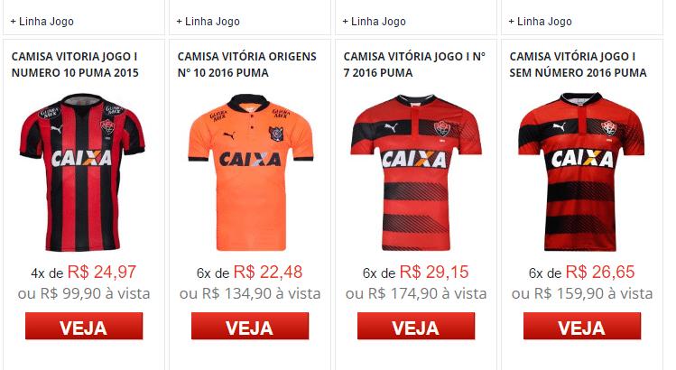 Camisa oficial de um clube da Série A do Brasileirão custa mais de R ... 9d74895ac2919