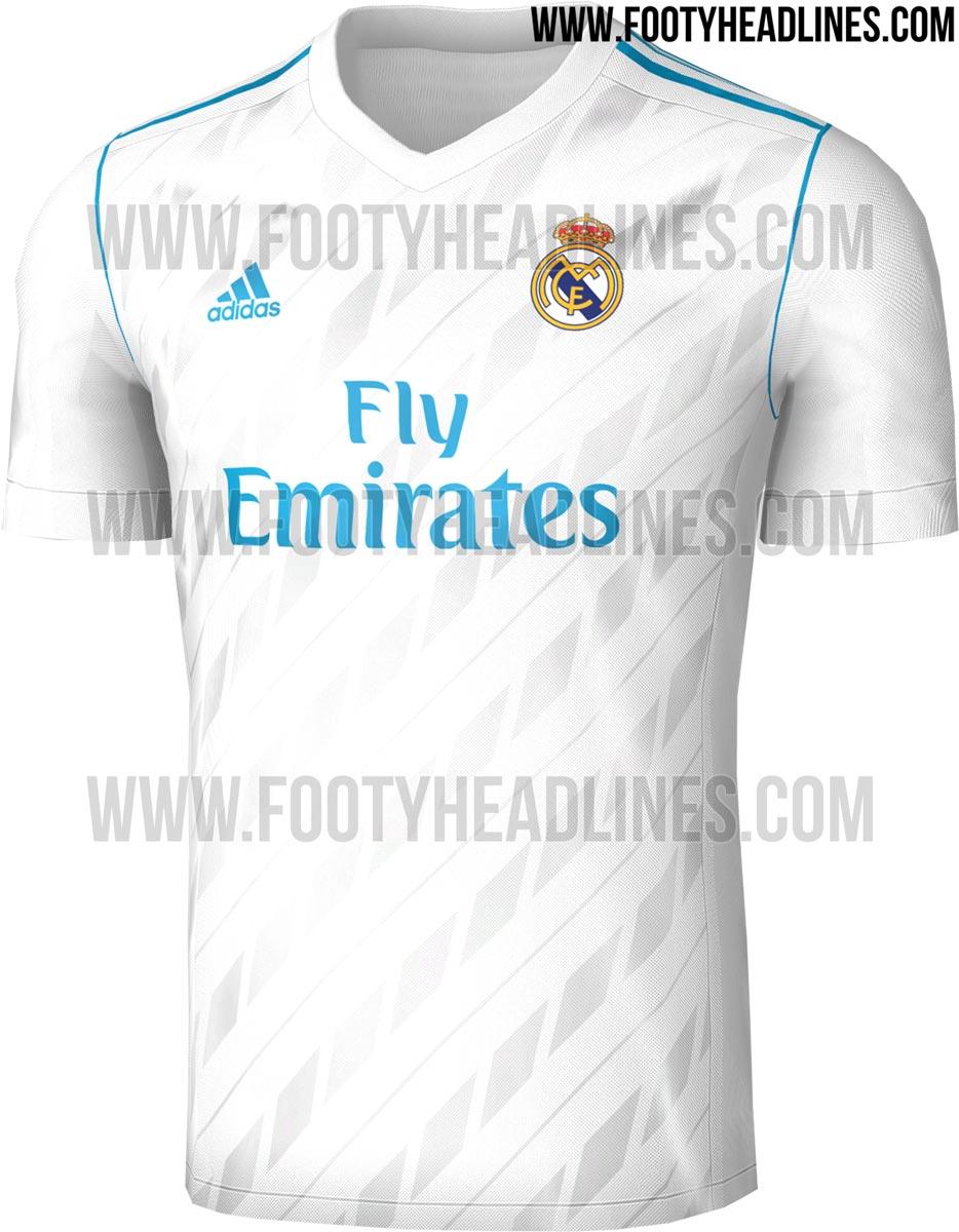 A camisa 1 do Real Madrid para a próxima campanha terá detalhes em azul e  um design menos tradicional do que o modelo vigente 4a80305c20049