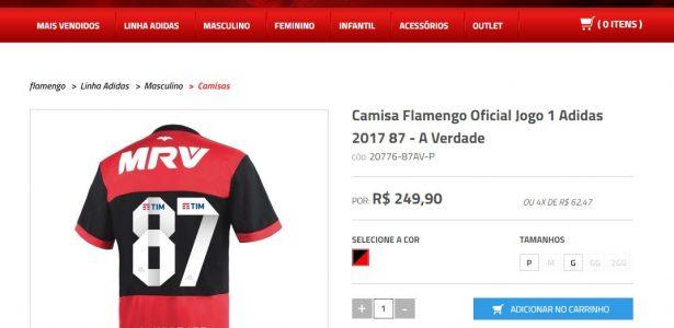 """80aa158e91 Loja do Fla vende camisa em resposta ao Sport sobre 87  """"A verdade nós  sabemos"""" - 20 05 2016 - UOL Esporte"""