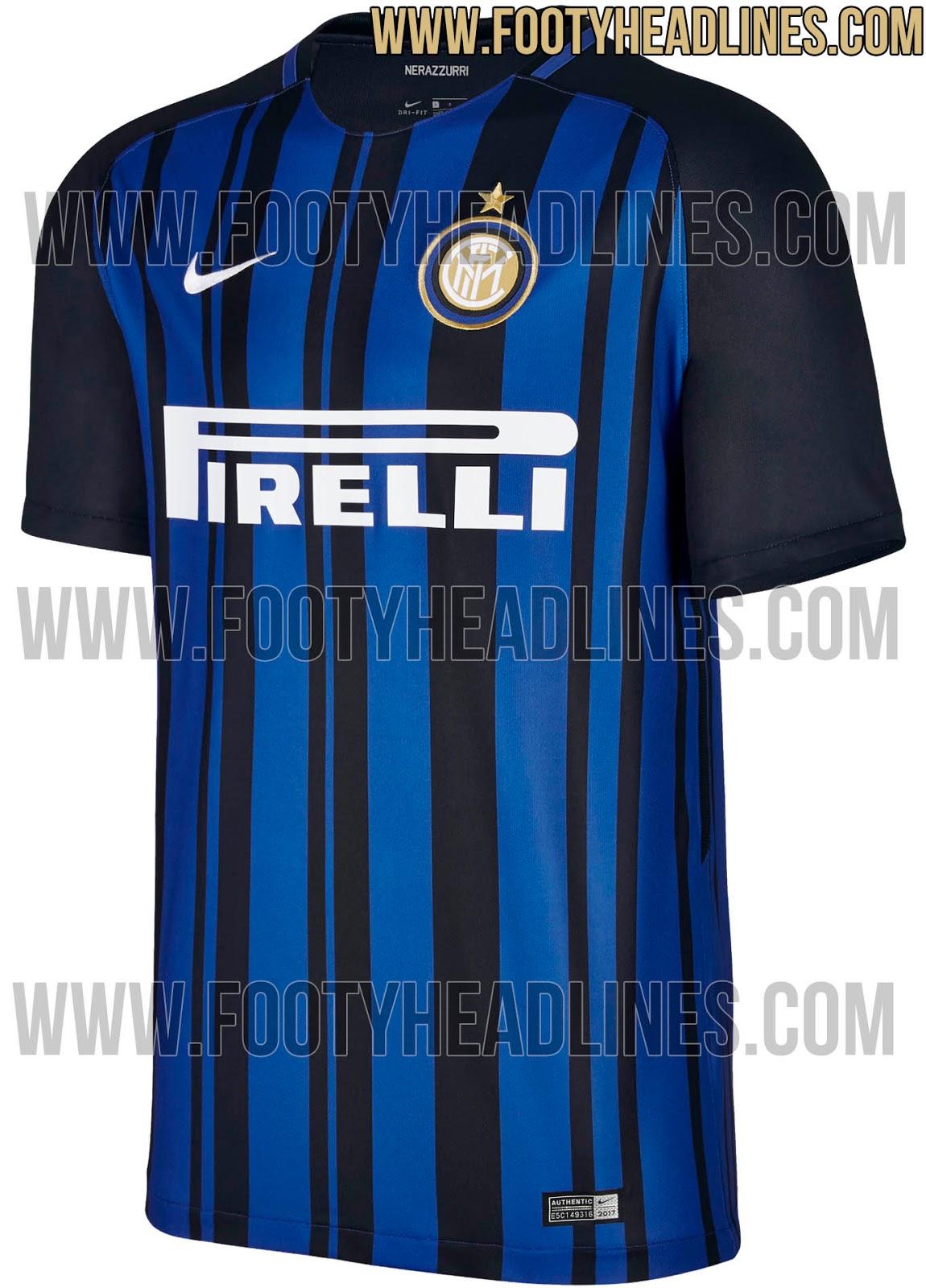 5965608df5 A torcida da Internazionale de Milão já conhece a camisa que o time vestirá  na temporada 2017 2018. No entanto
