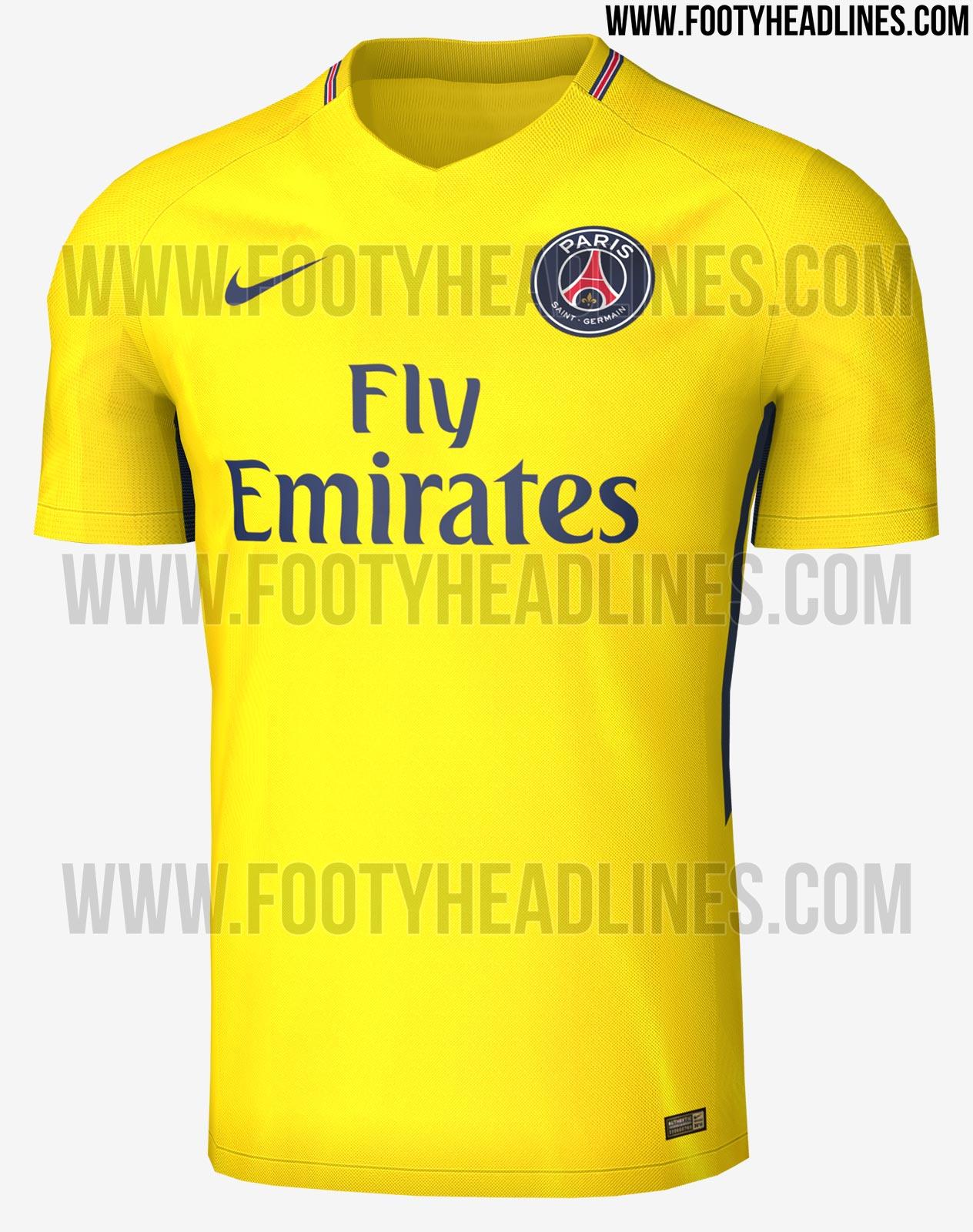453d9e4851 O site especializado em camisas de clubes de futebol de todo o mundo Footy  Headlines mostrou nesta sexta (19) como deve ser a camisa número dois do  PSG para ...